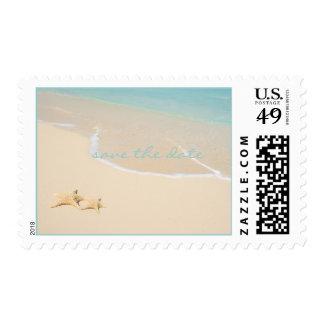 Starfish Beach save the date DIY postage