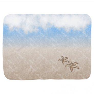Beach Themed Starfish Beach Swaddle Blanket