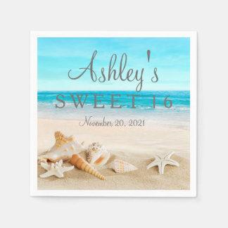 Starfish Beach Sweet 16 Personalized Napkin
