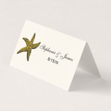 Starfish Beach Theme Escort Card Place Card IvoryC