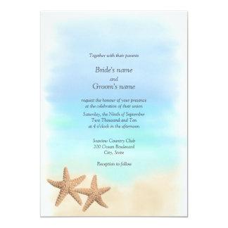Starfish Beach Theme Wedding Invitations