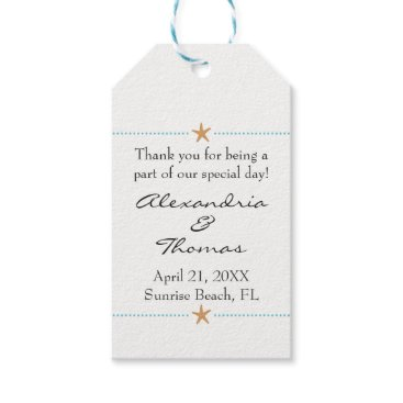 Beach Themed Starfish Beach themed Wedding Favor Tag