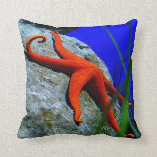 Starfish Beach Throw Pillow