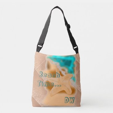 Beach Themed Starfish Beach Time Rose Gold Crossbody Bag