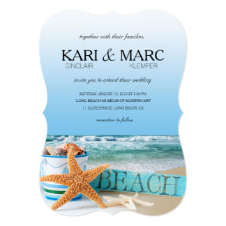 Starfish Beach Tropical Summer Wedding Card