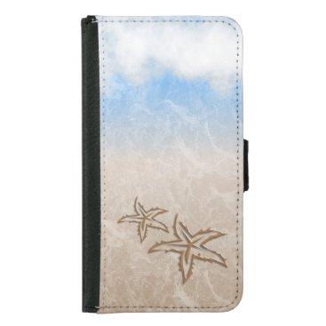 Beach Themed Starfish Beach Wallet Phone Case For Samsung Galaxy S5
