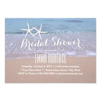 Starfish Beach Wedding Bridal Shower Card