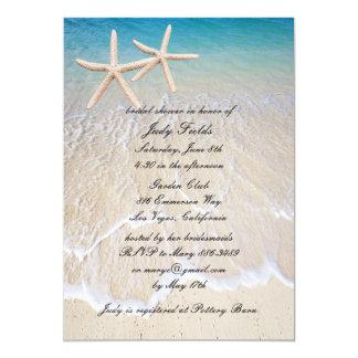 Starfish Beach Wedding Bridal Shower Invitation