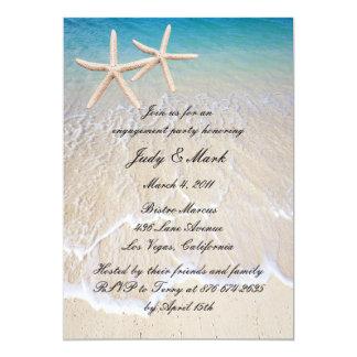 Starfish Beach Wedding Engagement Party Invitation