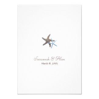 Starfish Beach Wedding Invitations, 5x7 Card