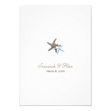 Beach Themed Starfish Beach Wedding Invitations, 5x7 Card