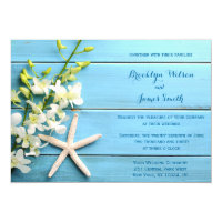 Starfish Beach Wedding Invitations With Orchid