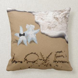 Starfish Beach Wedding Pillow