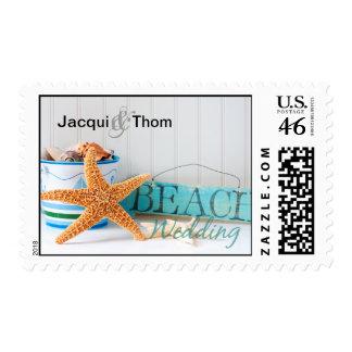 Starfish Beach Wedding Stamps