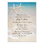 Starfish Beach Wedding Rehearsal Dinner Invitation