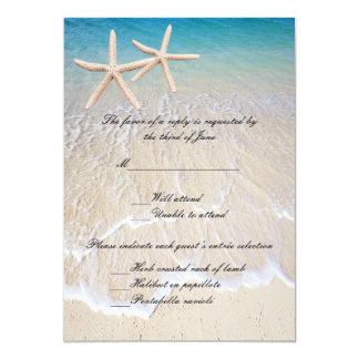 Starfish Beach Wedding Response Card
