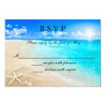 Starfish Beach Wedding RSVP Card Invitation