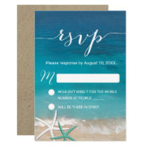 Starfish Beach Wedding RSVP Response Card