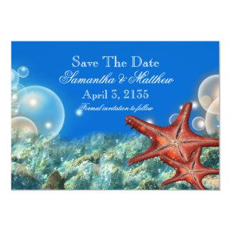 "Starfish beach wedding ""SAVE THE DATE"" 5x7 Paper Invitation Card"