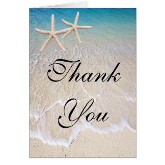 Starfish Beach Wedding Thank You Card