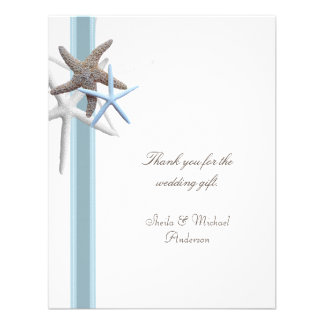 Starfish Beach Wedding Tropical Thank You Cards Personalized Invitation