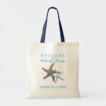 sandpiperwedding Starfish Beach Wedding Welcome Tote Bag