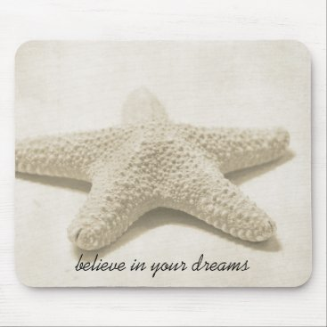 Beach Themed Starfish Believe Mouse Pad