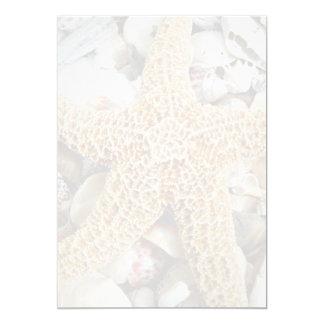 Starfish Blank Beach Wedding Fan Program Paper