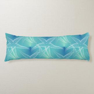 Starfish Blue Aqua Beach Body Pillow