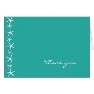 Starfish Blue Lagoon Blank Thank You Card