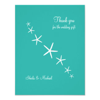 Starfish Blue Lagoon Small Thank You Cards