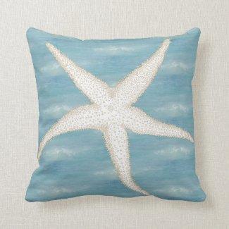 Starfish Blue Sea Pillow