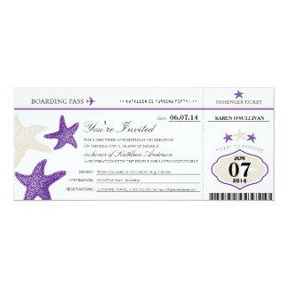 Starfish Boarding Pass Birthday Card