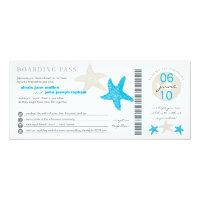 Starfish Boarding Pass | Wedding 4x9.25 Paper Invitation Card (<em>$2.57</em>)