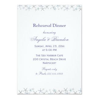 Starfish Border Rehearsal Dinner Invitation