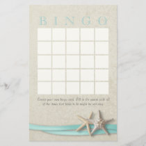 Starfish Bridal Shower Bingo