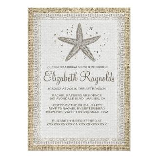Starfish Bridal Shower Invitations Invites