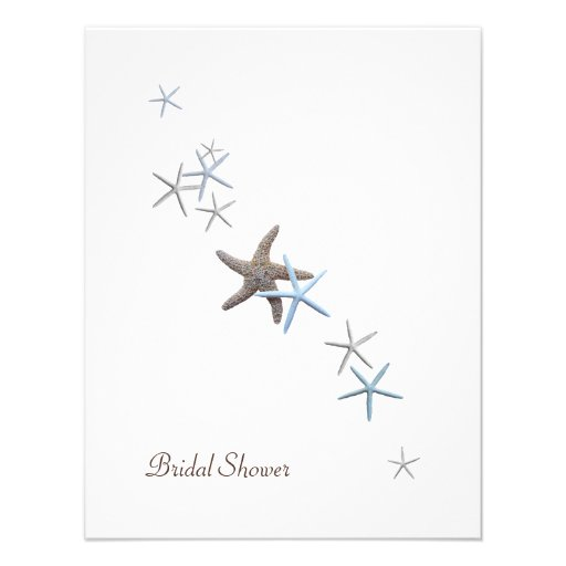 Starfish Bridal Shower Invitations