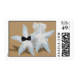 Starfish Bride Groom Postage