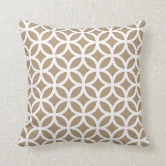 Starfish Brown Geometric Pattern Pillow