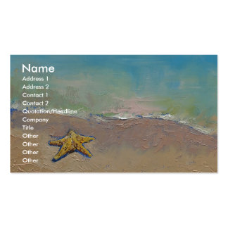 Starfish Double-Sided Standard Business Cards (Pack Of 100)
