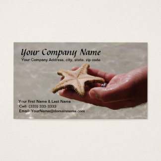Starfish Business Card Template