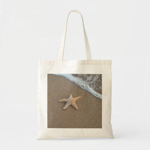 Starfish by the beach bag