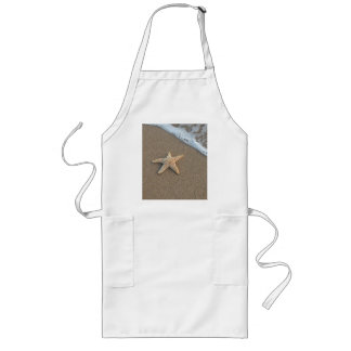 Starfish by the beach long apron
