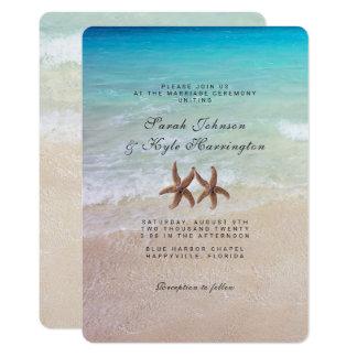 Starfish By the Sea Beach Wedding Invitation