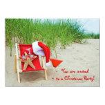 "Starfish Christmas Party Invite 4.5"" X 6.25"" Invitation Card"