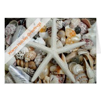 Starfish Christmas Tropical Holiday Greeting Card