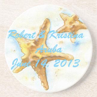 Starfish Coaster-Wedding Favor Sandstone Coaster