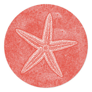 Starfish Coral Pink Card