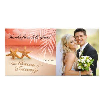 Beach Themed Starfish Couple ASK ME TO PUT NAMES IN SAND Card